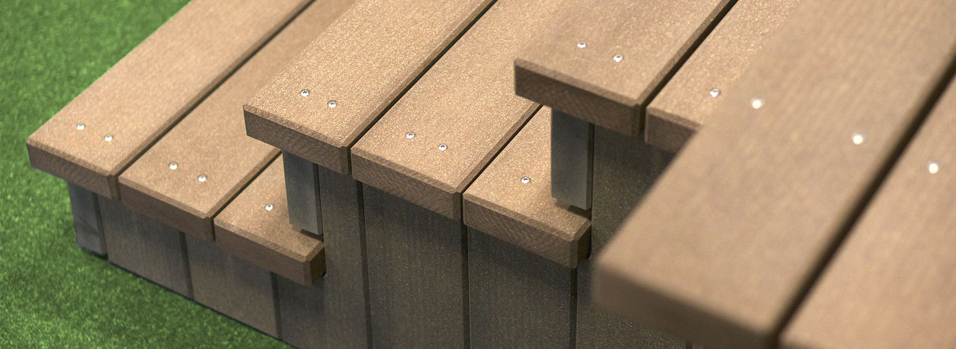 Megawood Terrassensystem Treppe