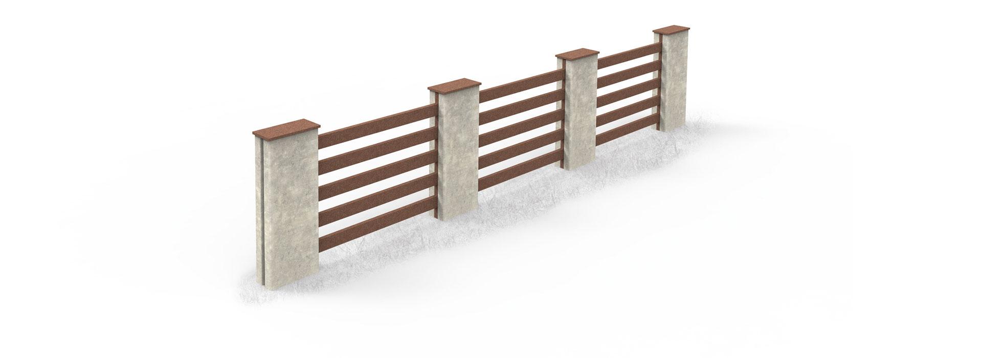 Zaun Megawood Terrassensystem