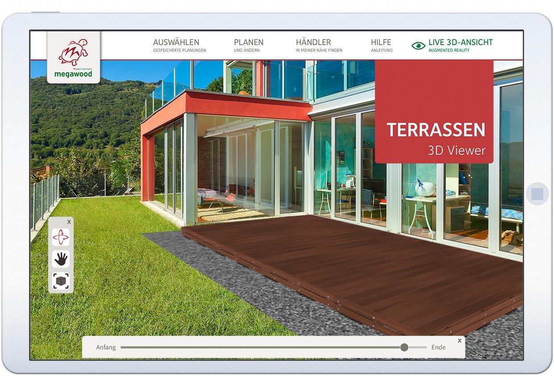 Megawood terrassensystem megaplaner for Kostenloser 3d planer